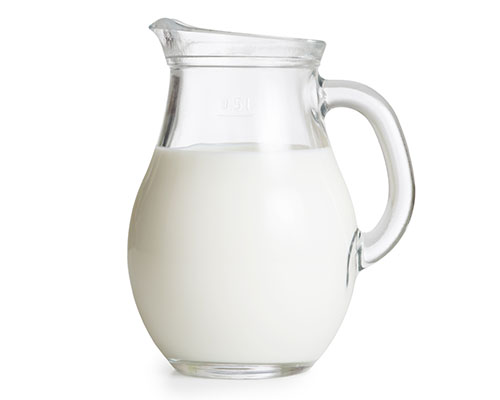 A gallon of milk